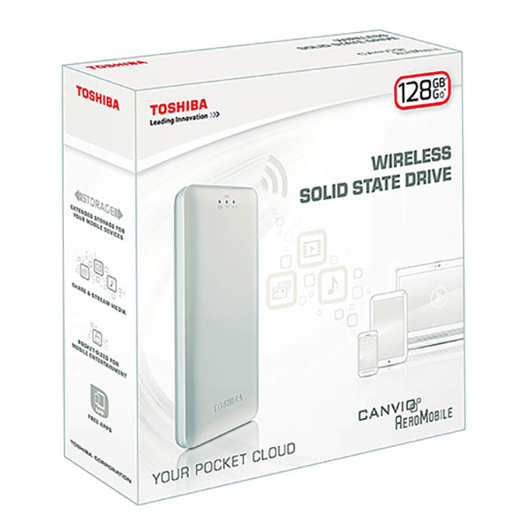 Toshiba CANVIO AEROMOBILE Wireless Solid State Drive 128GBImage