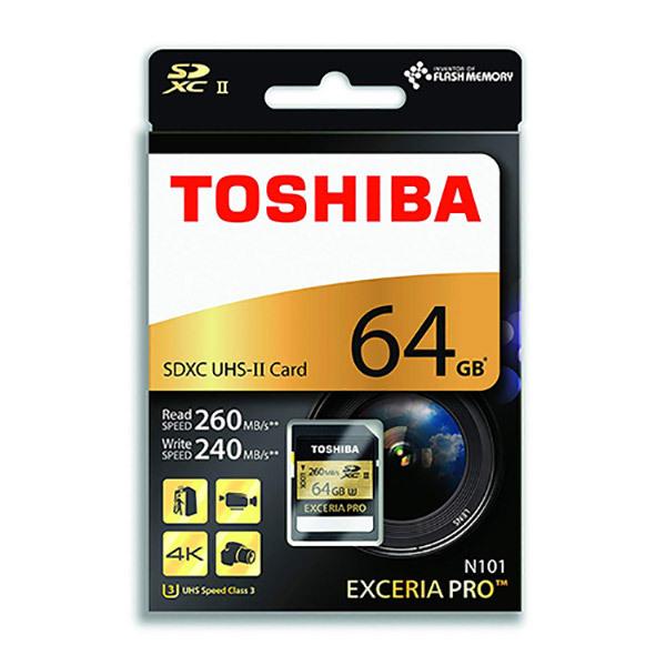 Toshiba EXCERIA PRO SDHC UHS-II Card 64GBImage