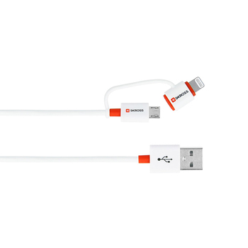 SKROSS 2-in-1 Micro USB & Lightning Cable