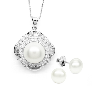 Toscow PEARLFECT Glamour Pendant & Earrings