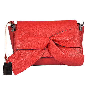 Emilio Masi KNOT BOW Leather Shoulder Bag