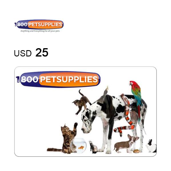 1-800-PetSupplies e-Gift Card $25Image
