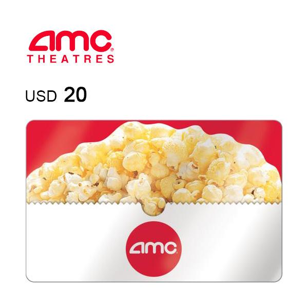 AMC Theatres e-Gift Card $20Image