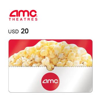 AMC Theatres e-Gift Card $20