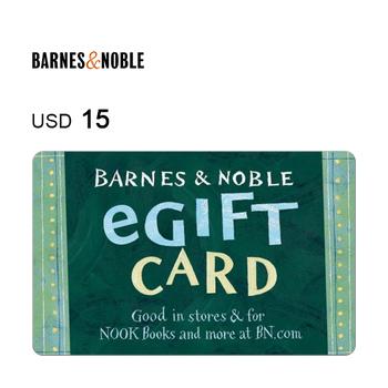 Barnes & Noble e-Gift Card $15