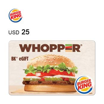 Burger King e-Gift Card $25