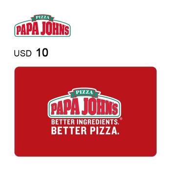 Papa John's Pizza e-Gift Card $10