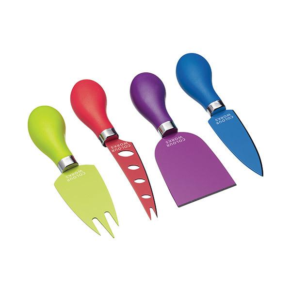 Set de 4 piezas para servir queso de ColourworksImagen