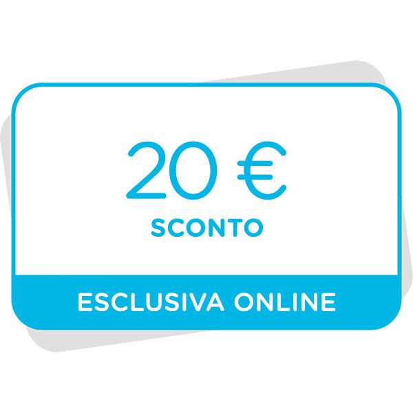 20€ di sconto al tuo prossimo acquisto sul sitoImmagine