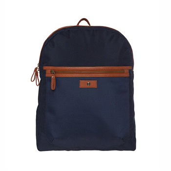 Horra LONDON Backpack - Navy Blue/Tan