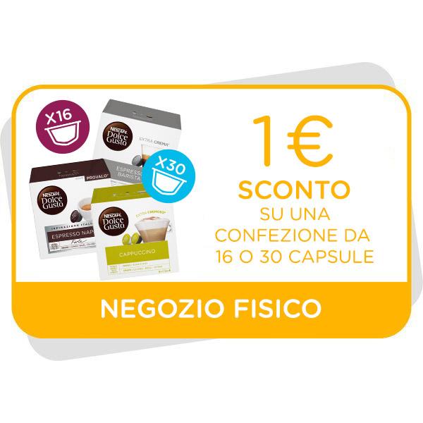 BUONO SCONTO DA 1€ VALIDO SU CONFEZIONI DA 16 E 30 CAPSULE Immagine