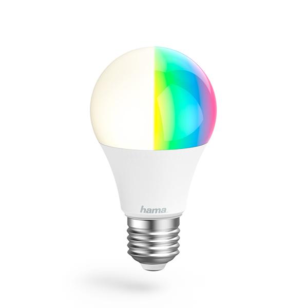 Hama Lampadina Wi-Fi LED − E27, 10W, RGBImmagine