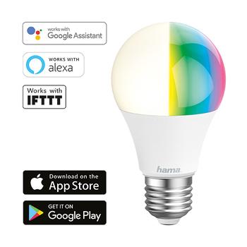Lámpara Wi-Fi LED de Hama − E27, 10W, RGB