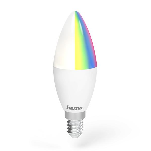 Lâmpada Wi-Fi LED da Hama − E14, 4,5W, RGBImagem