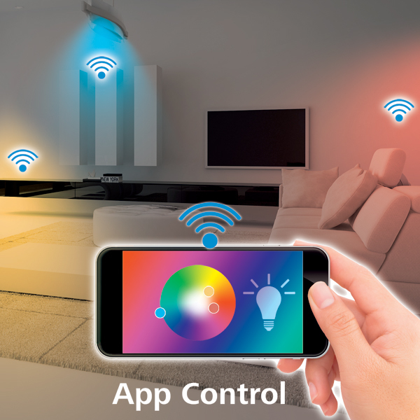 Lámpara Wi-Fi LED de Hama − GU10, 4,5W, RGBImagen