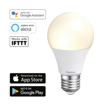 Lâmpada Wi-Fi LED da Hama − E27, 10W, branca