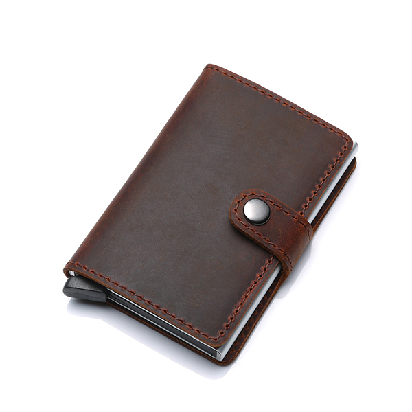 Trends RFID Blocking Genuine Leather Automatic PopUp Card Holder Image