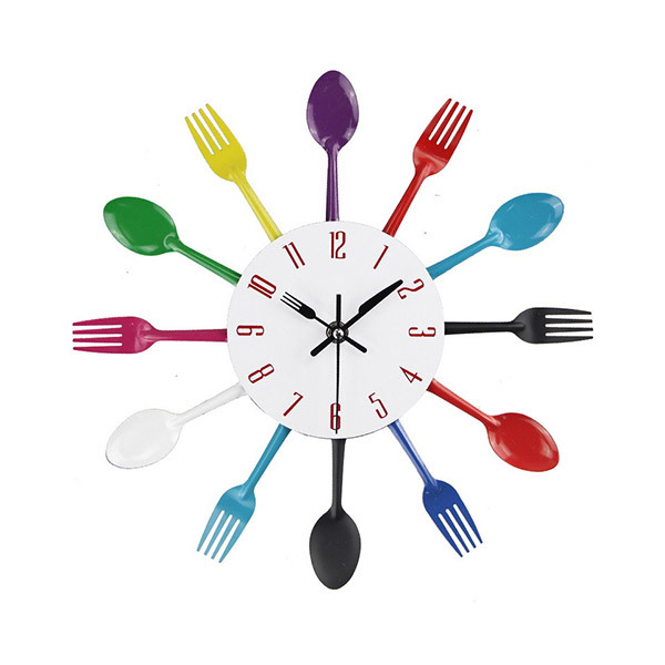 Trends 3D Cutlery Kitchen Wall ClockImage