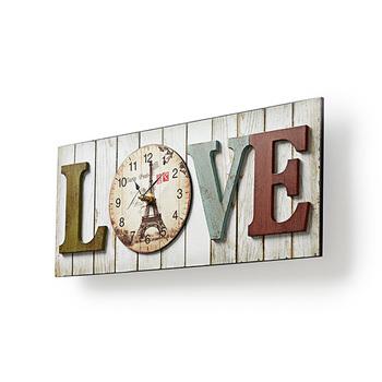 Relógio de parede de madeira