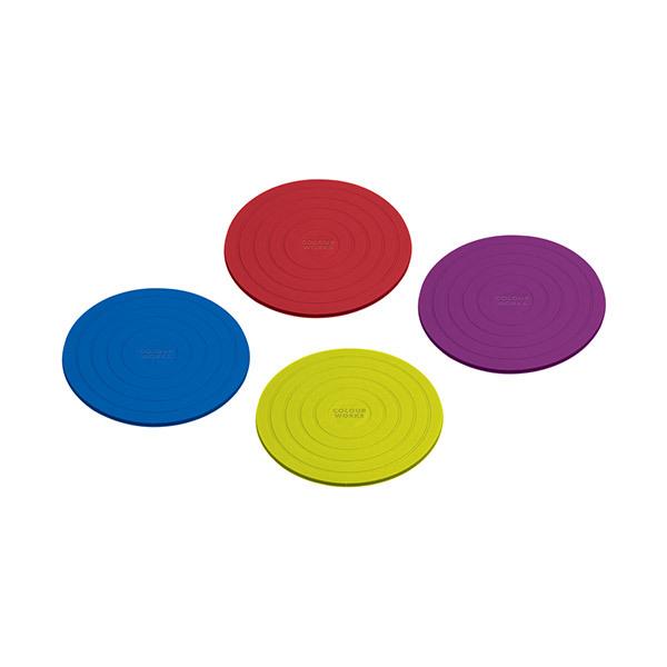 Bases de-copos redondas da Colourworks − conjunto de 4 Imagem