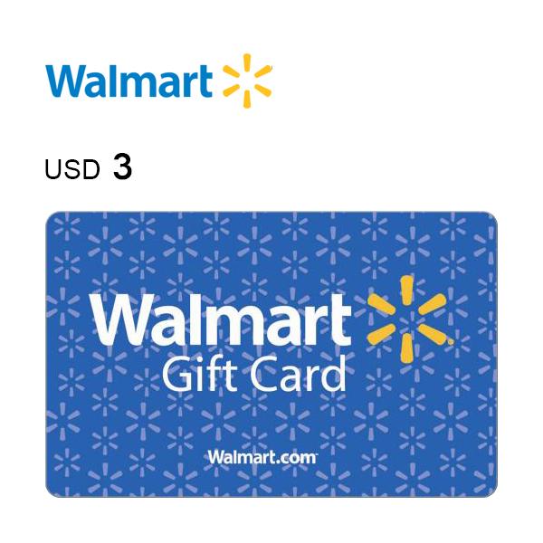 Walmart e-Gift Card $3Image