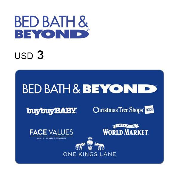 Bed Bath & Beyond e-Gift Card $3Image