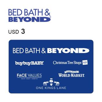 Bed Bath & Beyond e-Gift Card $3