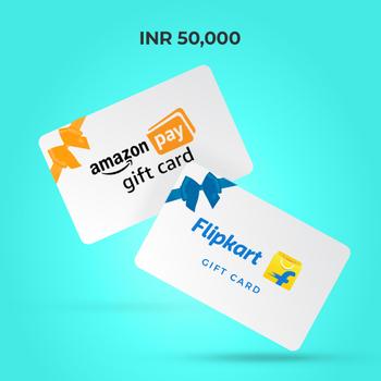 InterMiles Raffle − Amazon & Flipkart Gift Cards worth 50,000