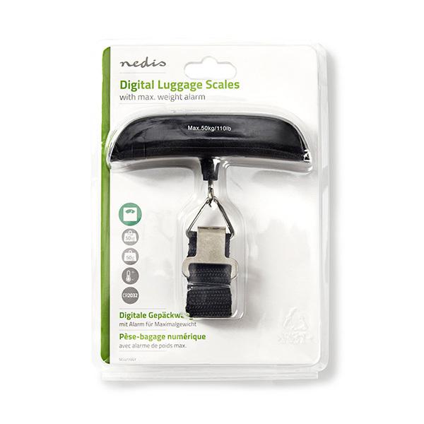 Nedis Digitale Bagage Weegschaal en ThermometerAfbeelding