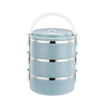 Trends Thermal 3-Tier Steel Lunch Box