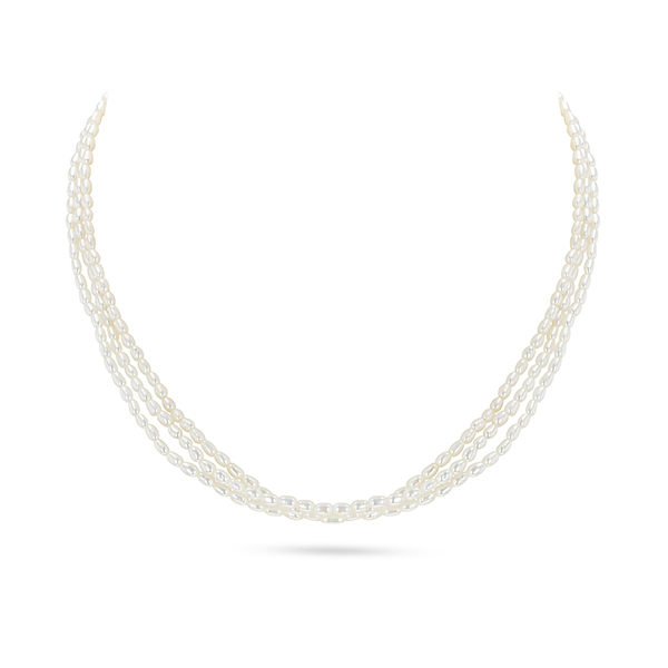 UMI Pearls AEYRN 3-Line Freshwater Pearl Necklace Image