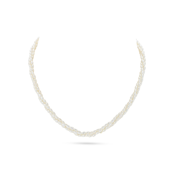 UMI Pearls AEYRN 3-Line Freshwater Pearl NecklaceImage
