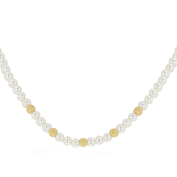 UMI Pearls CARINA Golden Stardust Pearl NecklaceImage