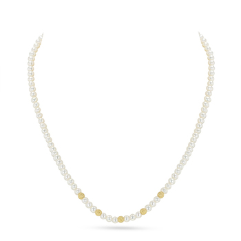 UMI Pearls CARINA Golden Stardust Pearl Necklace