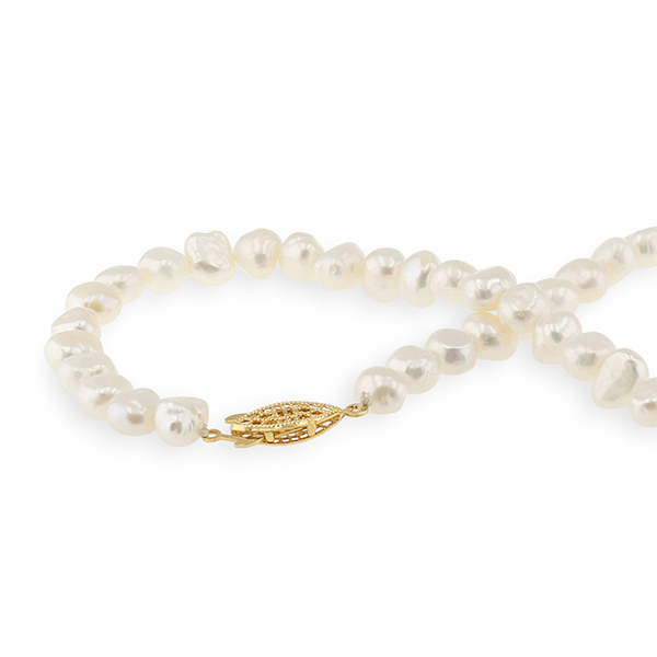 UMI Pearls ISOBEL Flat Pearl NecklaceImage