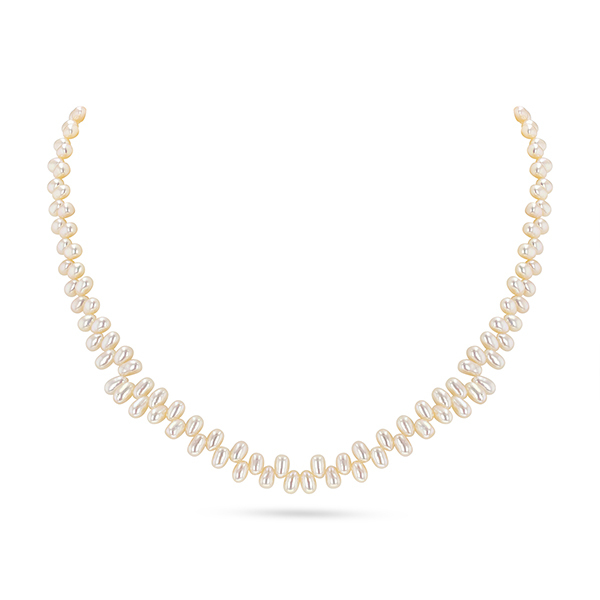 UMI Pearls VICTORIA Top Drill Freshwater Rice Pearl NecklaceImage