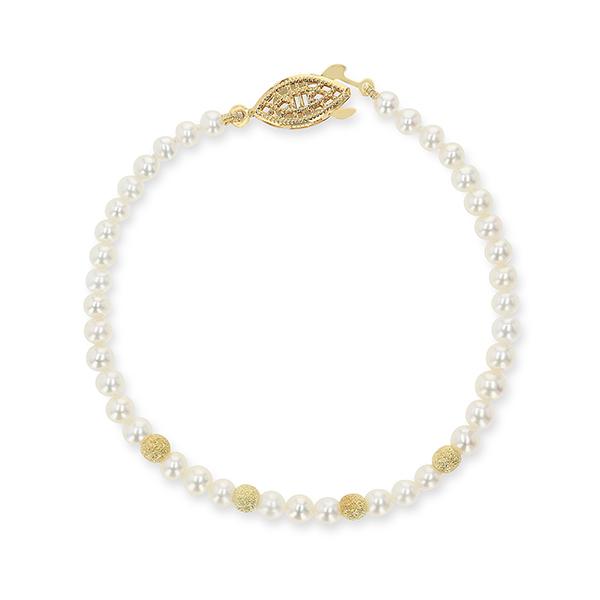 UMI Pearls LEIA Golden Stardust Pearl BraceletImage