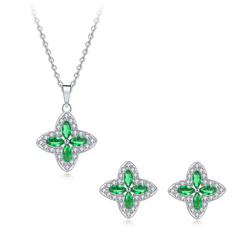 Pica LéLa LUCKY CLOVER Pendant Necklace & Earrings Set