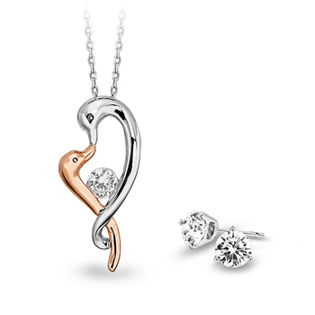 Pica LéLa BONDS OF LOVE Pendant Necklace + Starlight Earrings