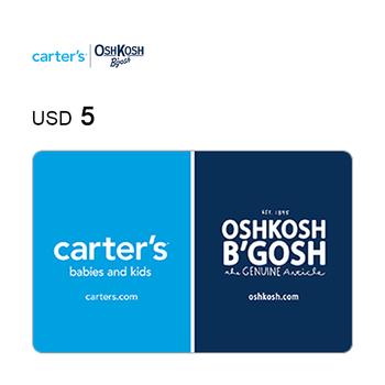 Carter's & Oshkosh e-Gift Card $5