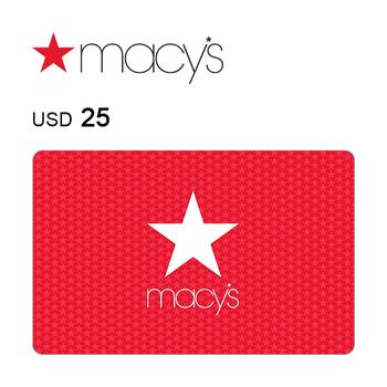 Macy's e-Gift Card $25