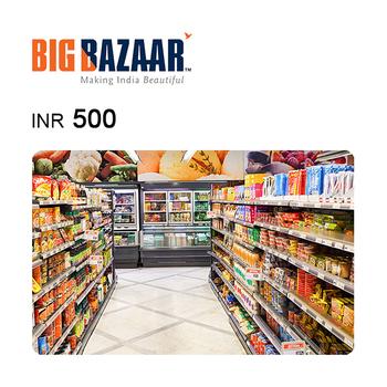 Big Bazaar e-Gift Voucher INR500