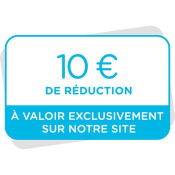 Bon de réduction de 10€ à valoir sur notre site