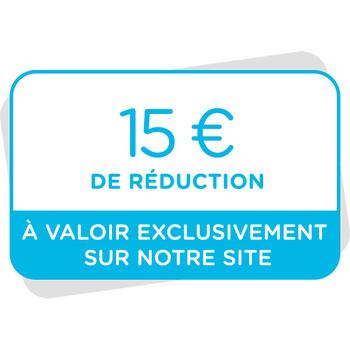 Bon de réduction de 15€ à valoir sur notre site