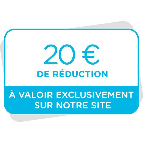 Bon de réduction de 20€ à valoir sur notre siteImage