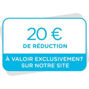 Bon de réduction de 20€ à valoir sur notre site