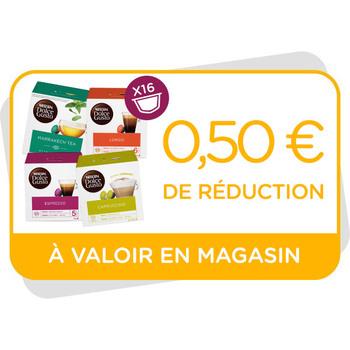 Bon de réduction de 0,50€ à valoir en magasin