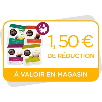 Bon de réduction de 1,50€ à valoir en magasin