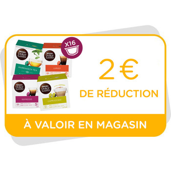 Bon de réduction de 2€ à valoir en magasin