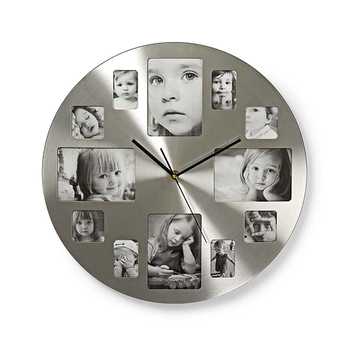 Relógio de Parede Circular com Molduras para Fotografias Nedis
